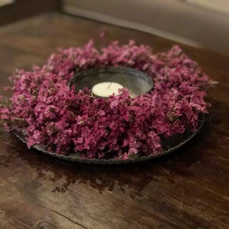 krans limonium roze