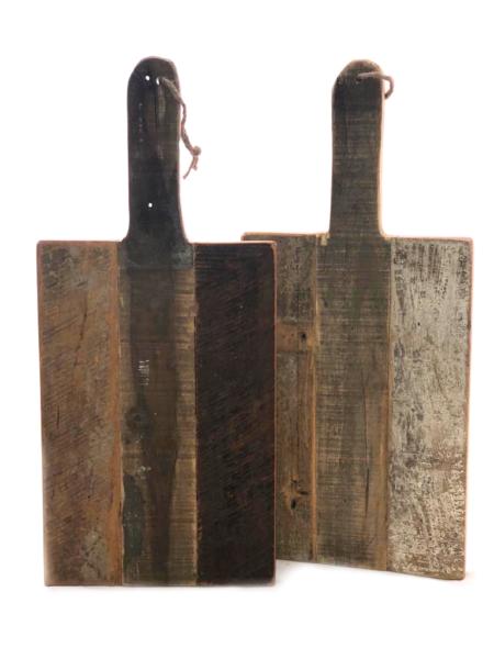 Oude rechthoekige snijplank