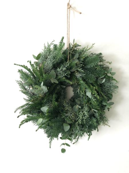 Kerstkrans Neutraal met Eucalyptus