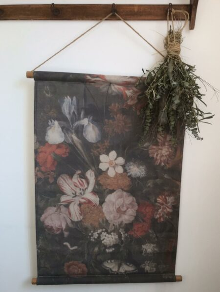 Wandkaart bloemen