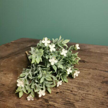 zijde bloem witte bloemetjes