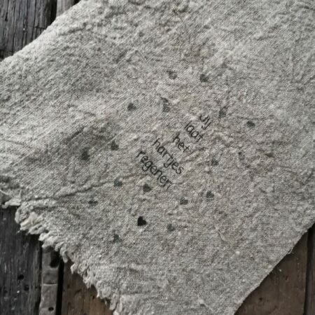 shabby doek jij laat het hartjes regenen
