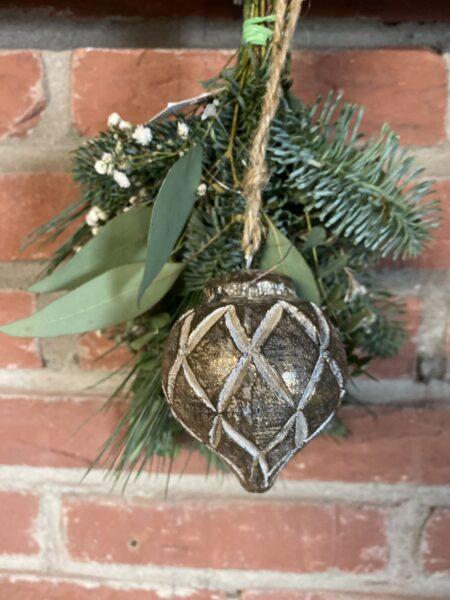 Houten Ornament Ruit patroon Goud