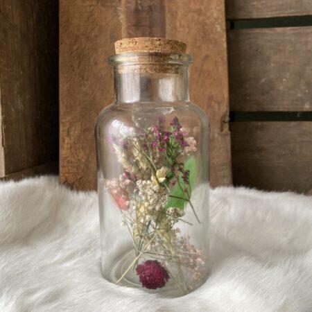 Apothekerspot met droogbloemen L #17