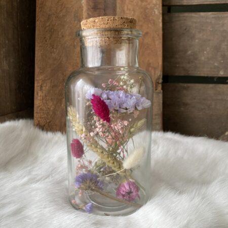 Apothekerspot met droogbloemen L #16