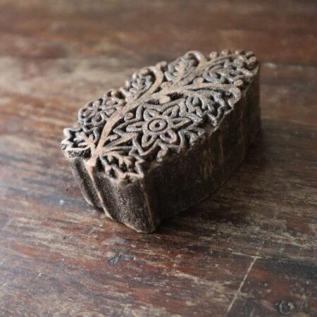 houten stempel oud - bloem