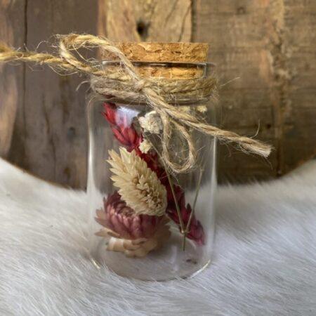 Droogbloemen in glazen buis #22