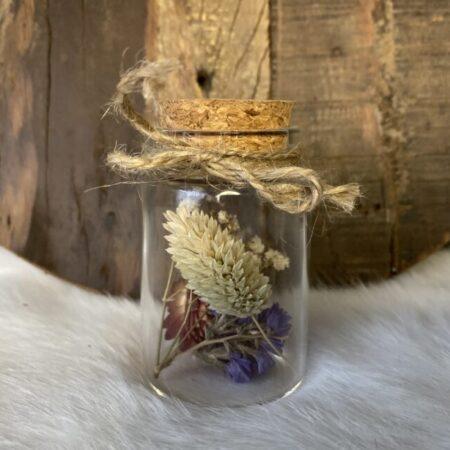 Droogbloemen in glazen buis #48