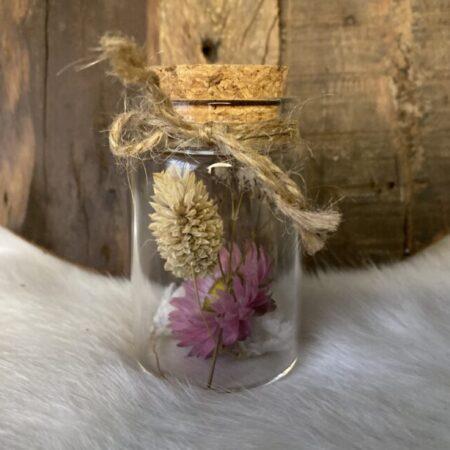 Droogbloemen in glazen buis #40