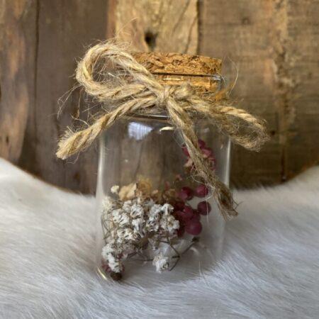 Droogbloemen in glazen buis #28