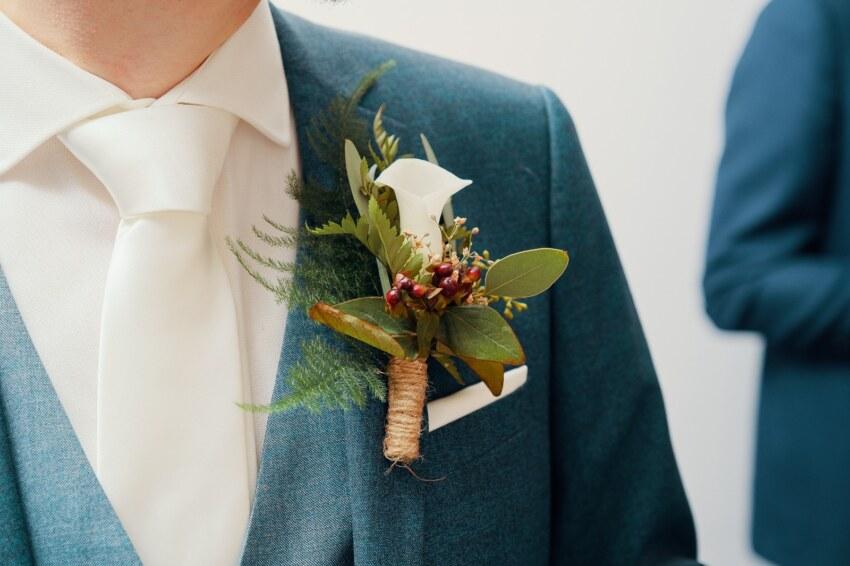 bruiloft bloemen - corsage