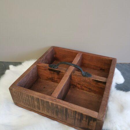 Vierkante houten bak