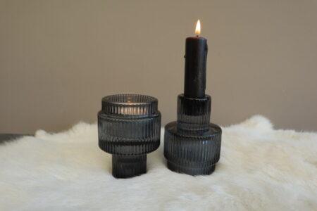 Kaarsenstandaard Zwart