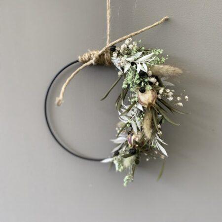 Droogbloemen krans nigella